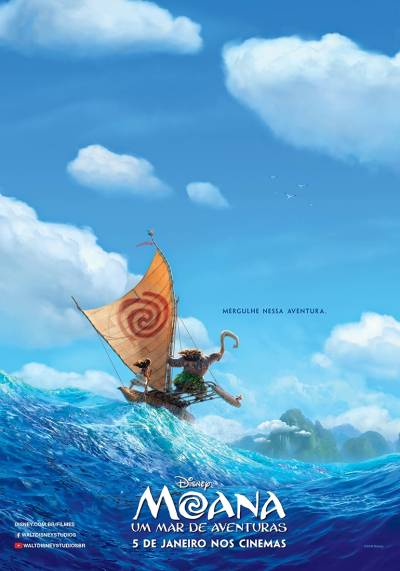 Cartaz do filme Moana – Um Mar de Aventuras