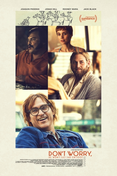 Cartaz oficial do filme Don't Worry, He Won't Get Far on Foot