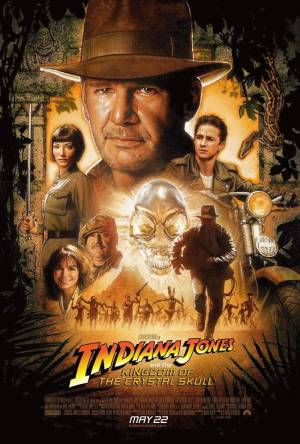 Cartaz do filme Indiana Jones e o Reino da Caveira de Cristal