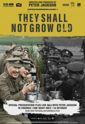 Cartaz oficial do filme They Shall Not Grow Old