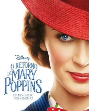 Cartaz oficial do filme O Retorno de Mary Poppins