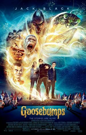Cartaz oficial do filme Goosebumps - Monstros e Arrepios