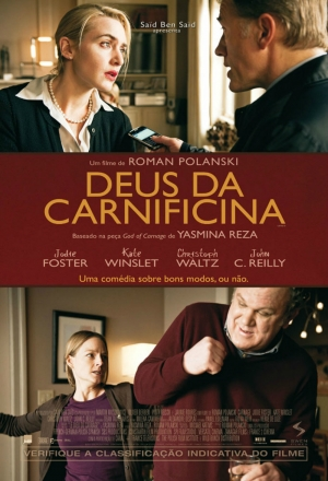 Cartaz oficial do filme Deus da Carnificina