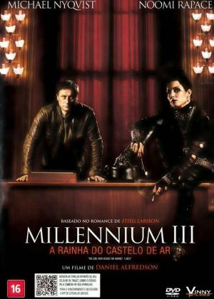 Cartaz oficial do filme Millenium 3 - a Rainha do Castelo de Ar