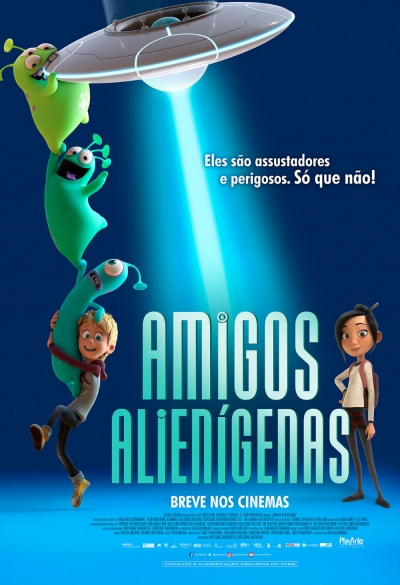 Cartaz oficial do filme Amigos Alienígenas