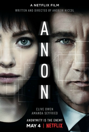 Cartaz oficial do filme Anon